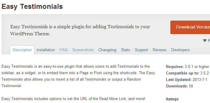 easy testimonials plugin wordpress open source