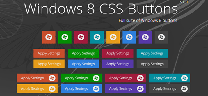 css3 html windows win8 buttons