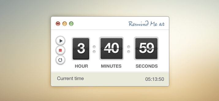 stopwatch timer psd freebie ui interface
