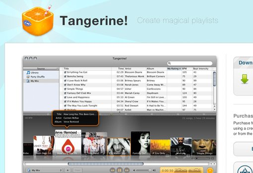 Personal music playlists with Tangerine!