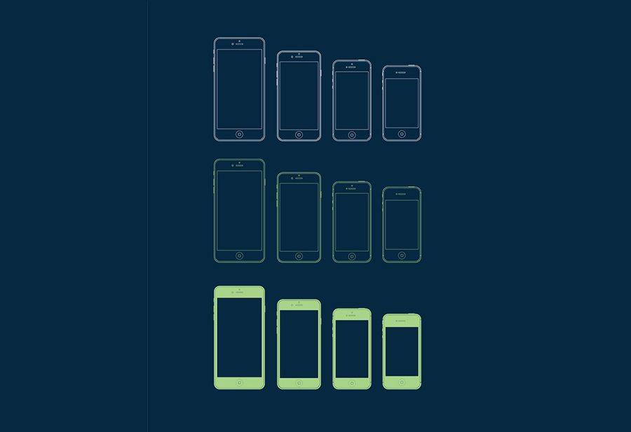 1-117 100+ iPhone PSD & Vector Mockups design tips