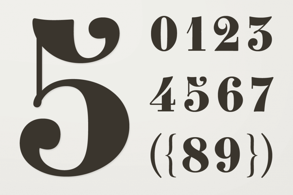 This Exclusive And Unique Set Of Numbers Was Rescued From A Forgotten 1838 Type Specimen Book Issued By The Fonderie Clement Bruxelles