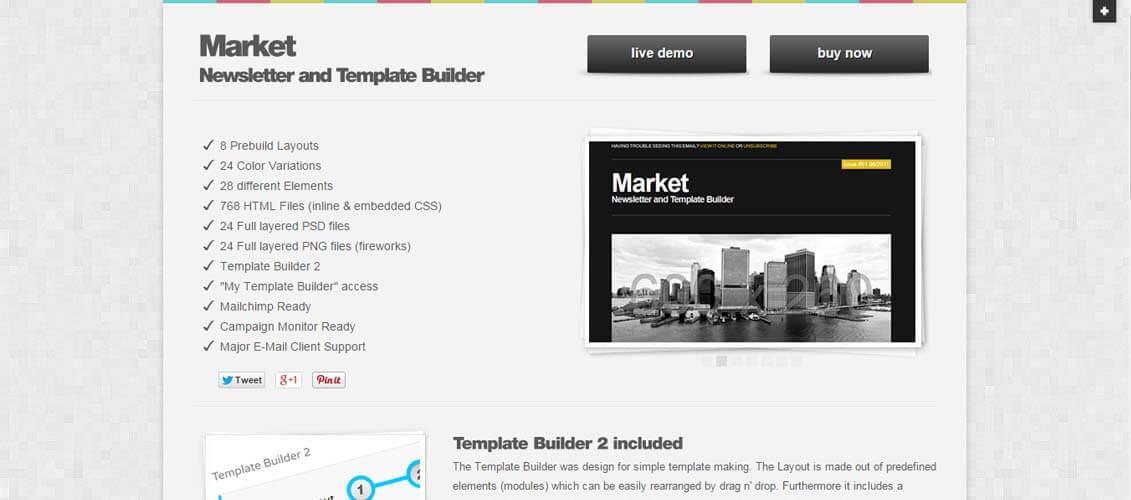 25 modern responsive email templates design shack market responsive newsletter with template builder 1 maxwellsz