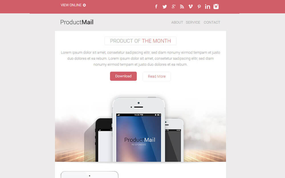 1-74 25+ Modern Responsive Email Templates design tips