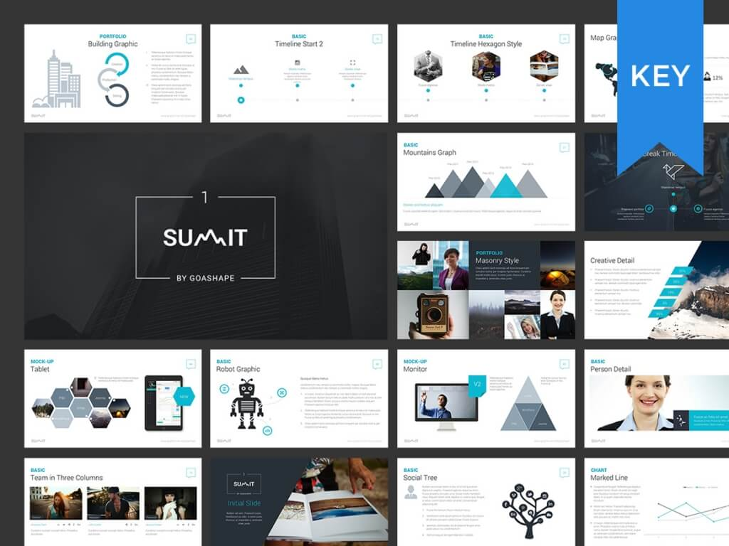 25 modern premium keynote templates design shack summit keynote presentation toneelgroepblik Images