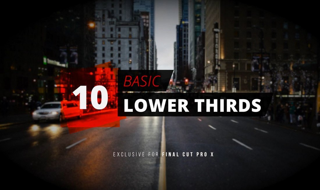 10-Basic-Lower-Thirds-Free-Final-Cut-Pro-Templates 20+ Best Free Final Cut Pro (FCP) Templates, Plugins, Titles & Transitions design tips