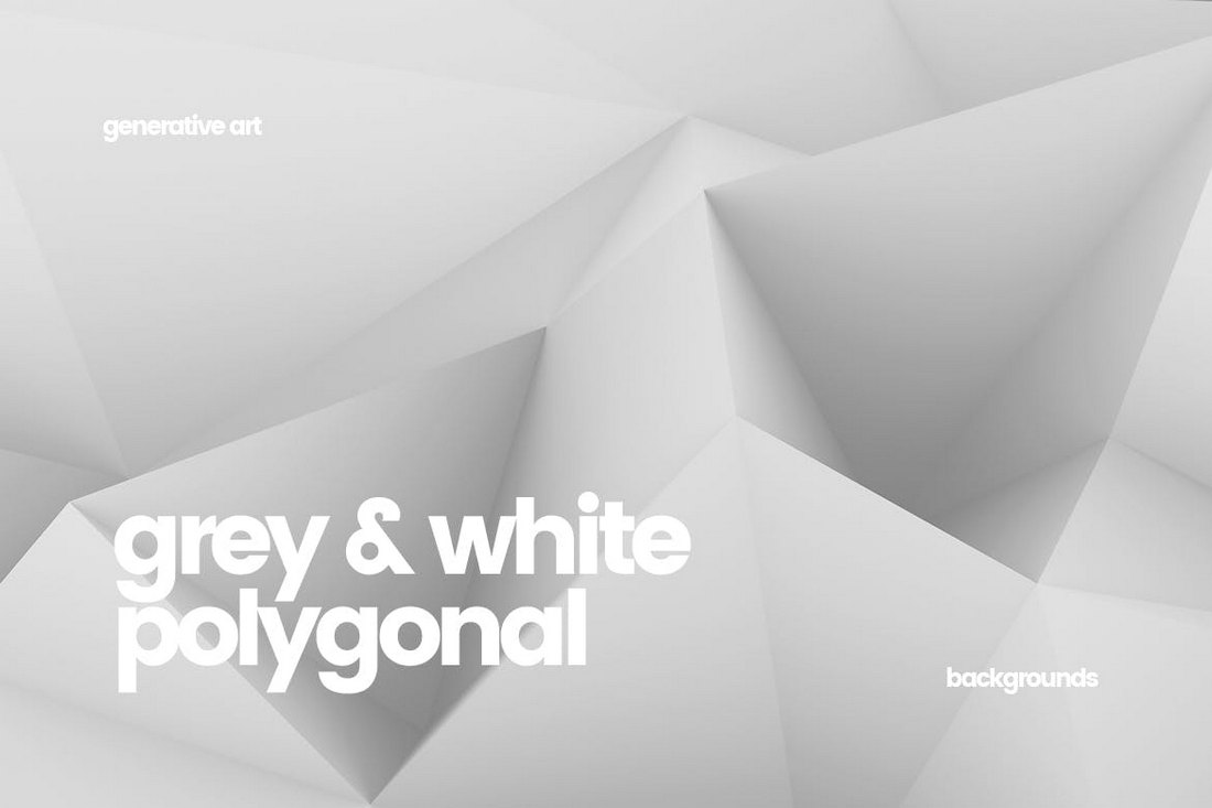 10-Black-and-White-Polygon-Backgrounds 30+ Best Subtle Black & White Background Textures design tips