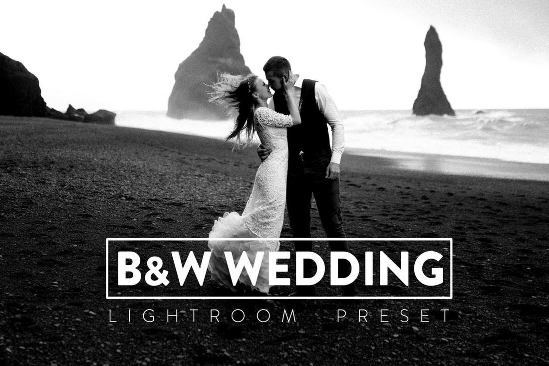 10 Black and White Wedding Lightroom Presets