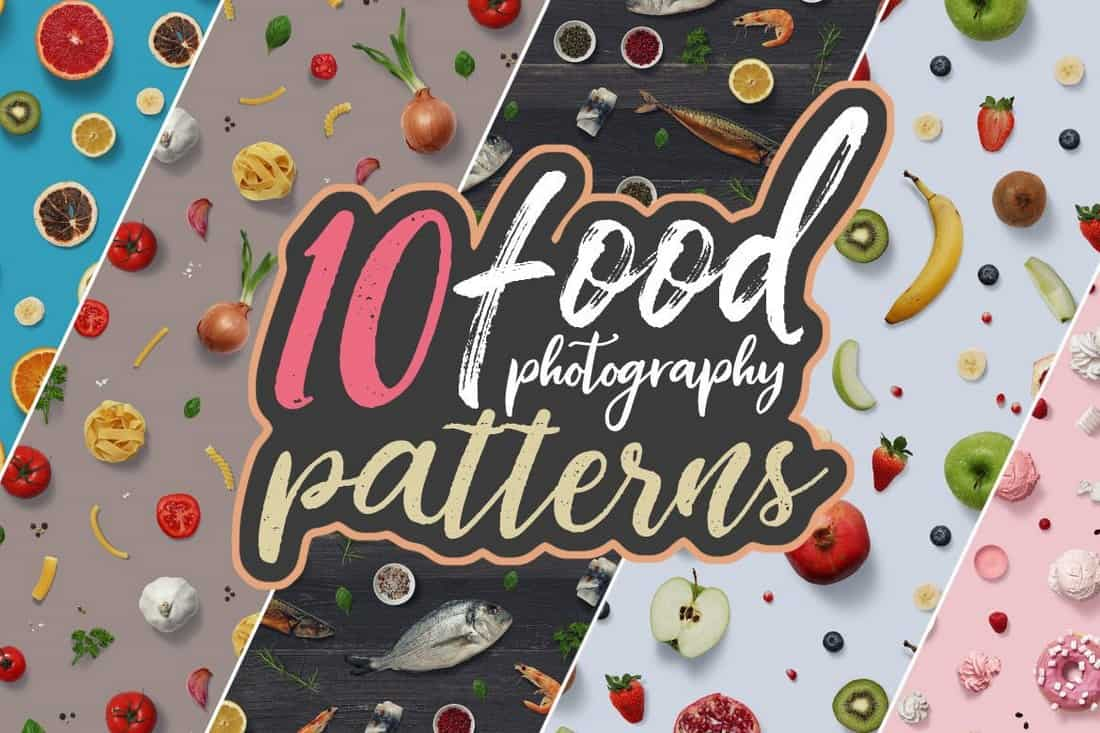 10-Food-Photography-Patterns 50+ Best Free Photoshop Patterns 2021 design tips
