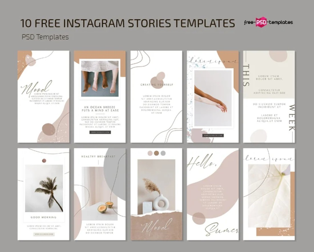 10 Free Clean Instagram Story Templates
