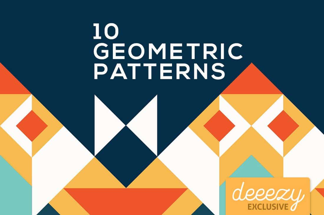 10 Free Colorful Geometric Patterns