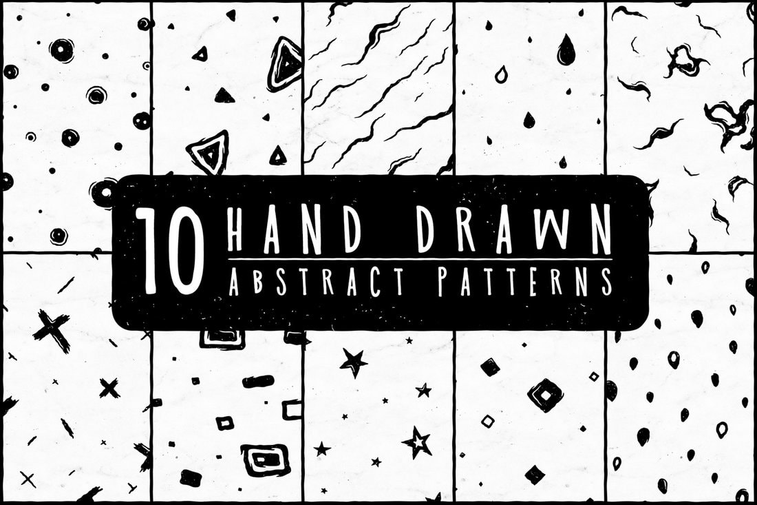 10 Free Hand-Drawn Abstract Patterns