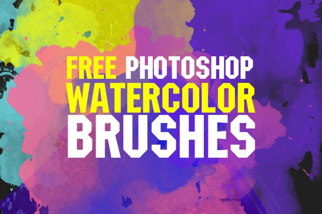 10 Free Photoshop Watercolor Brushes