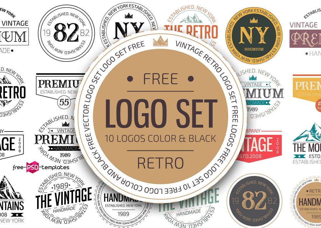 10 Free Retro Logo Templates