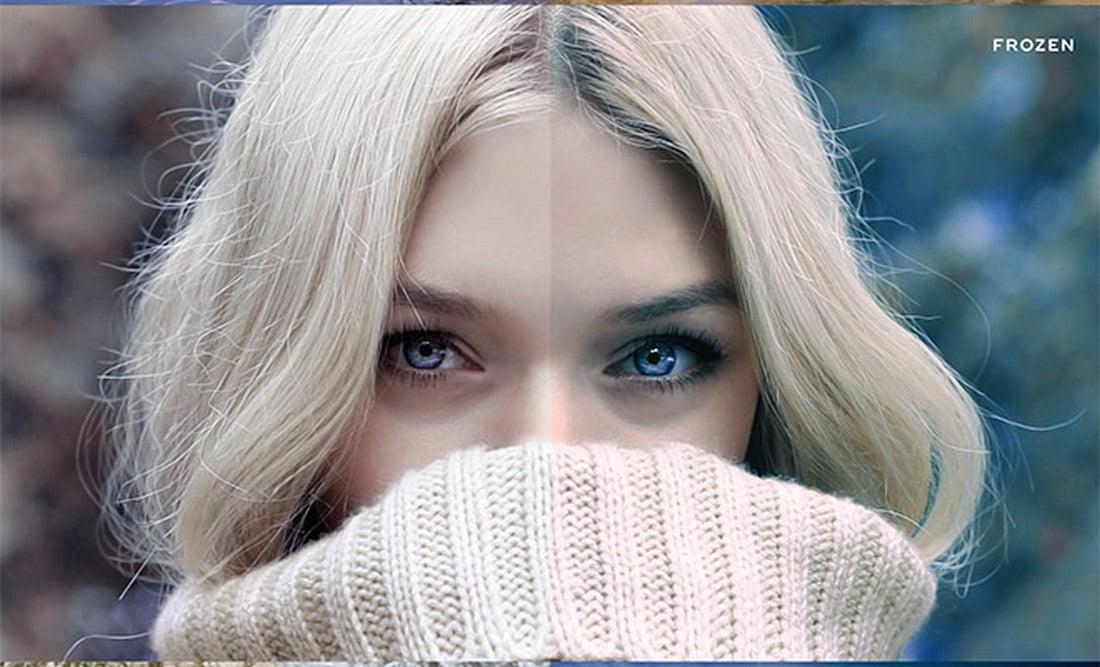 10 actions gratuites de l'effet Photoshop Winter Blues