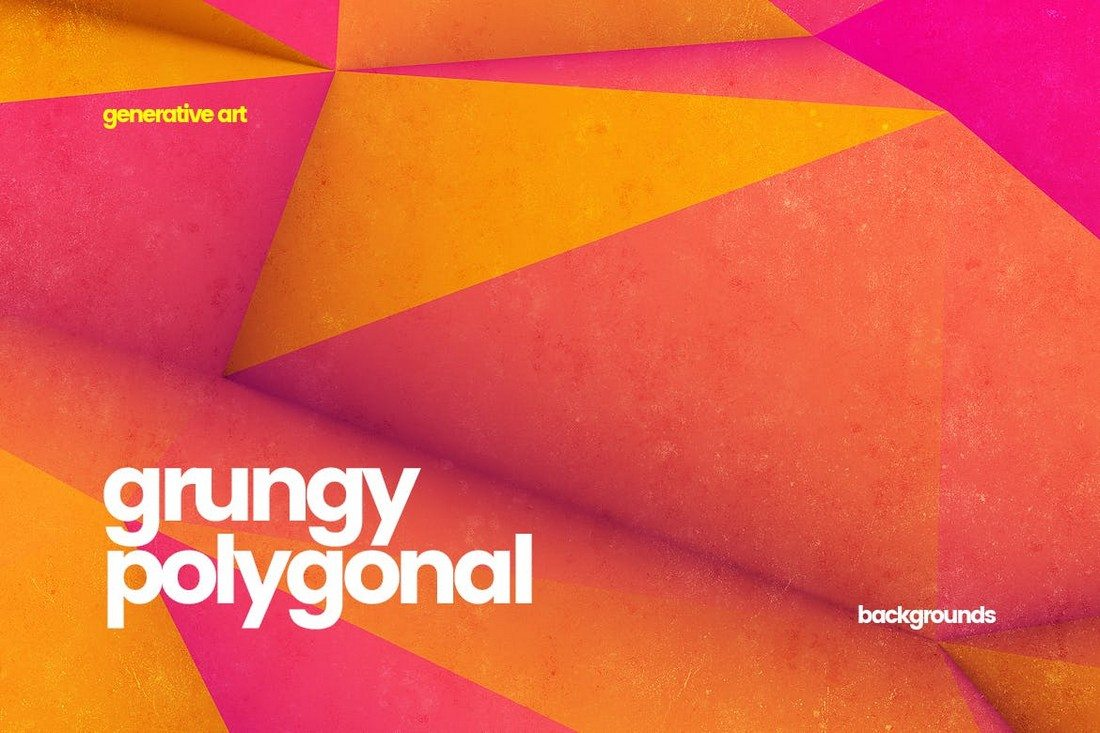 10-Grungy-Polygonal-Backgrounds 20+ Beautiful Geometric & Polygon Background Textures design tips