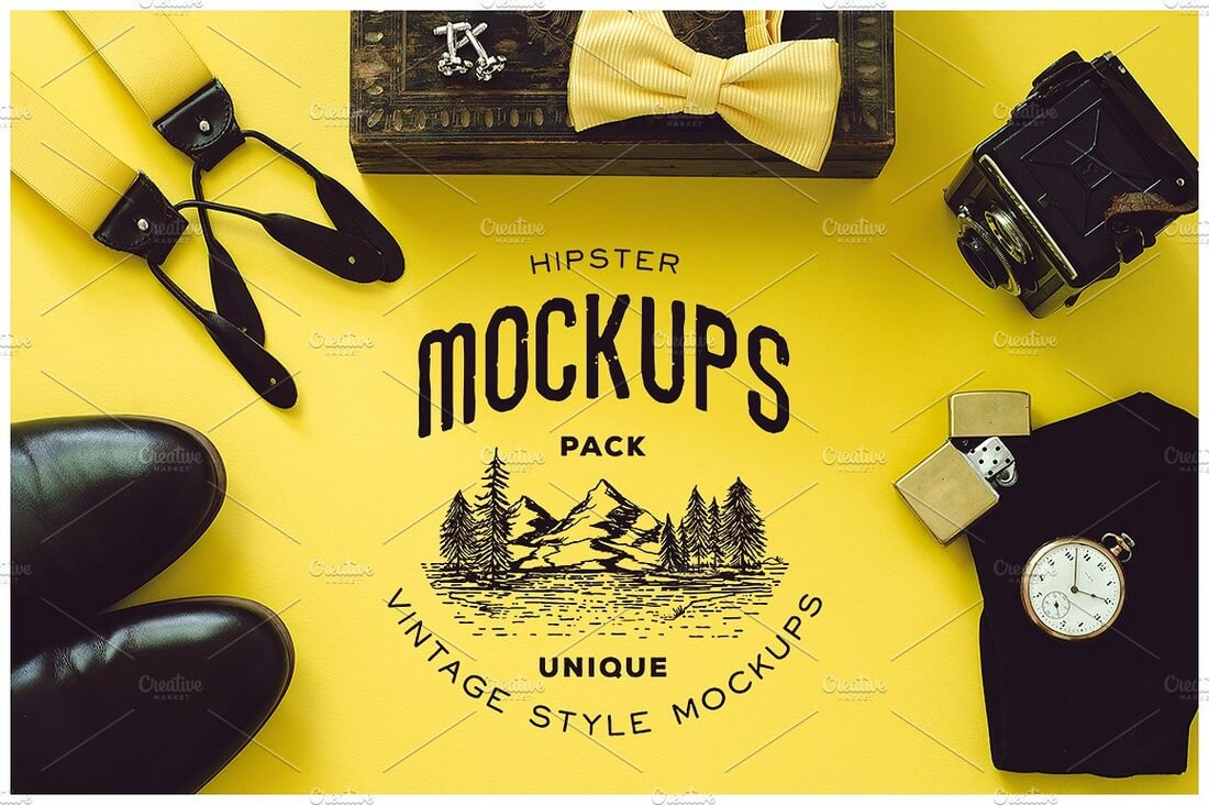 10-Hipster-Mockups-Pack 40+ Stunning Vintage Mockup Packs & Graphics design tips