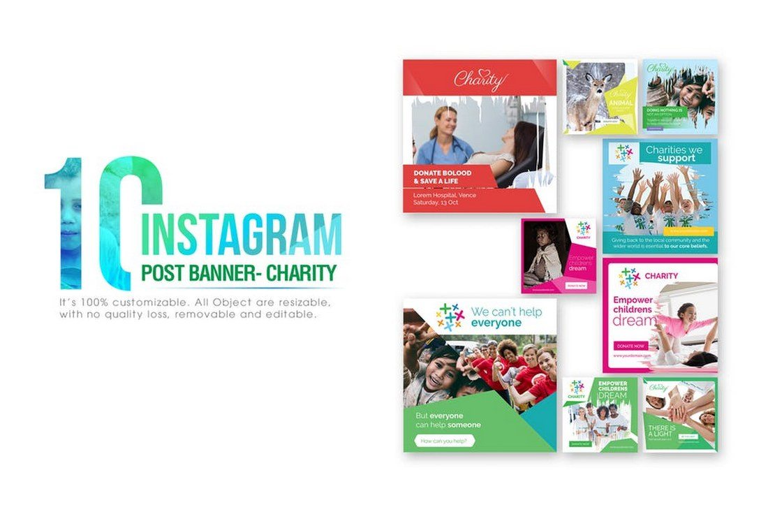10-Instagram-Charity-Banners 30+ Best Instagram Templates & Banners design tips