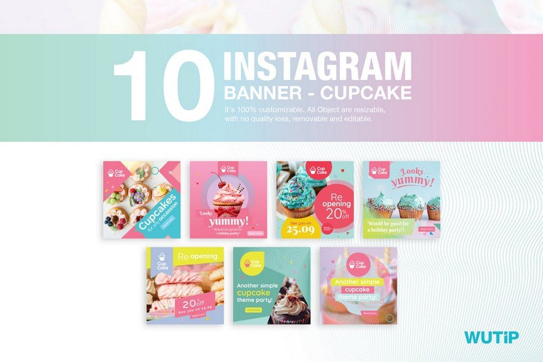 10-Instagram-Cupcake-Post-Banners 30+ Best Instagram Templates & Banners design tips