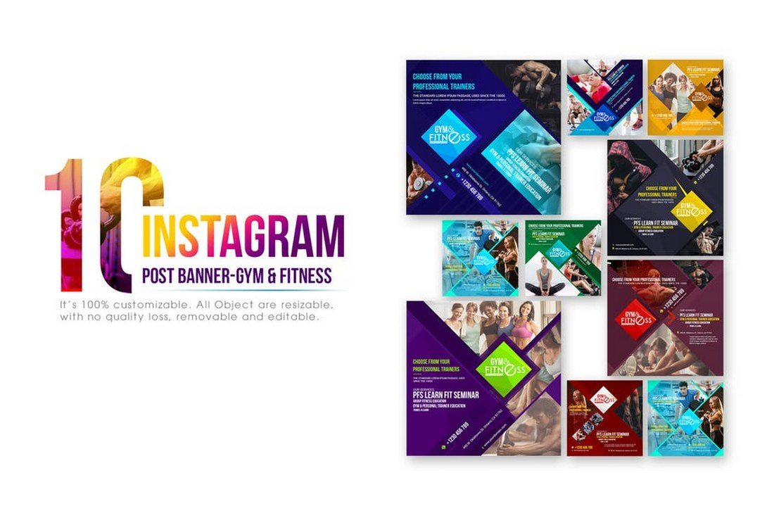 10-Instagram-Fitness-Gym-Banners 30+ Best Instagram Templates & Banners design tips