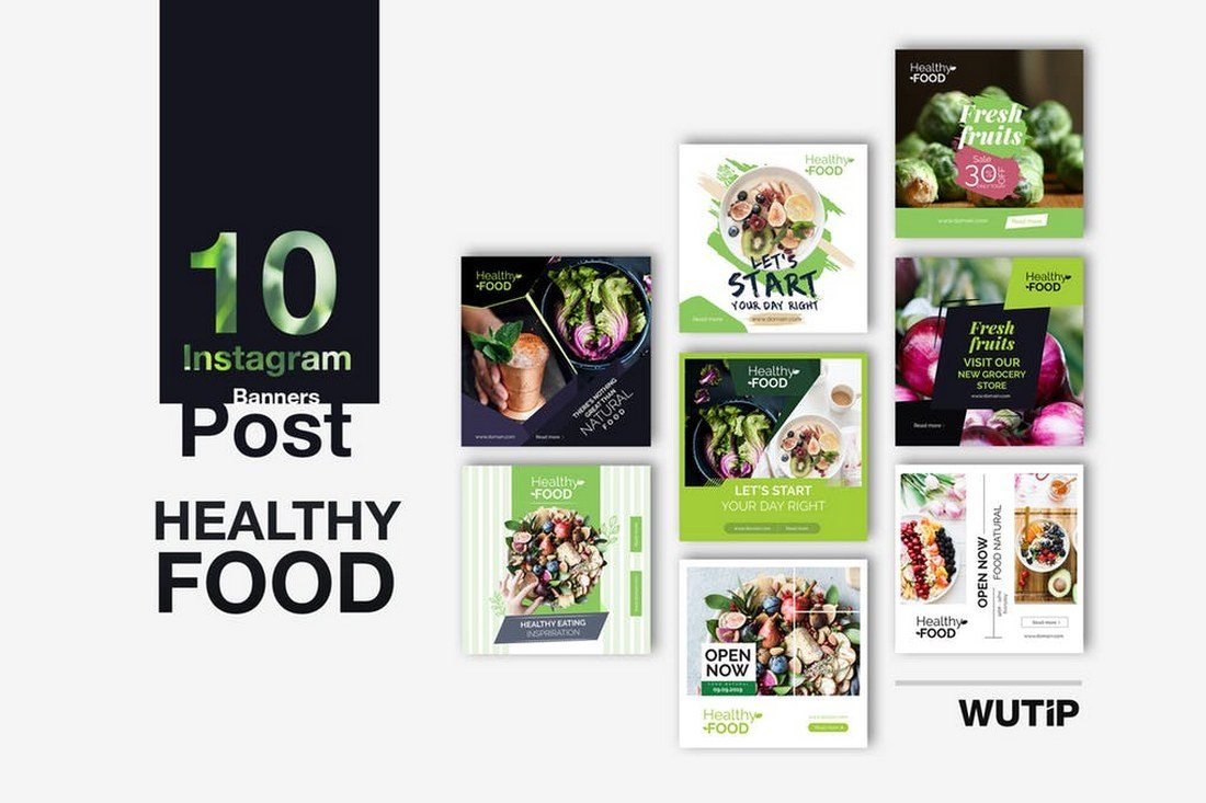 10-Instagram-Healthy-Food-Banners 30+ Best Instagram Templates & Banners design tips