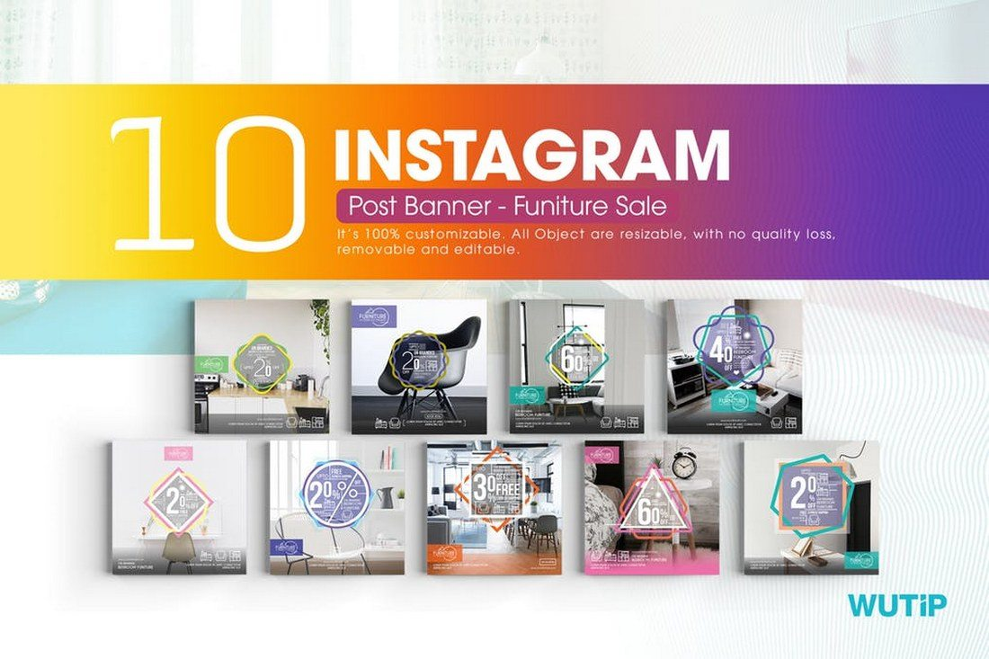 10-Instagram-Post-Banner-for-Furniture-Sales 30+ Best Instagram Templates & Banners design tips