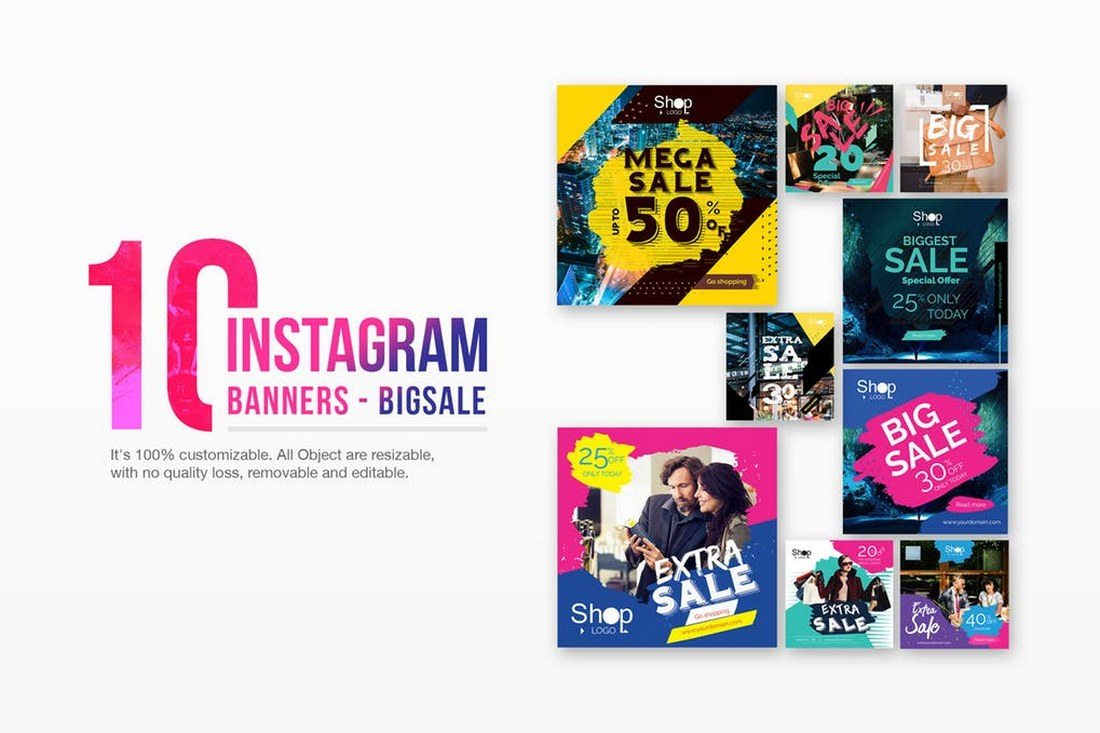 10-Instagram-Post-Banners-For-Big-Sales 30+ Best Instagram Templates & Banners design tips