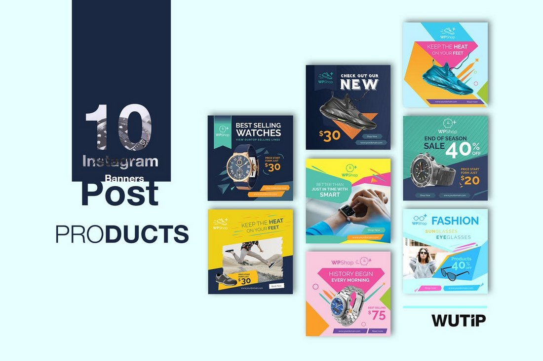 10-Instagram-Product-Promotion-Banner-Templates 30+ Best Instagram Templates & Banners design tips