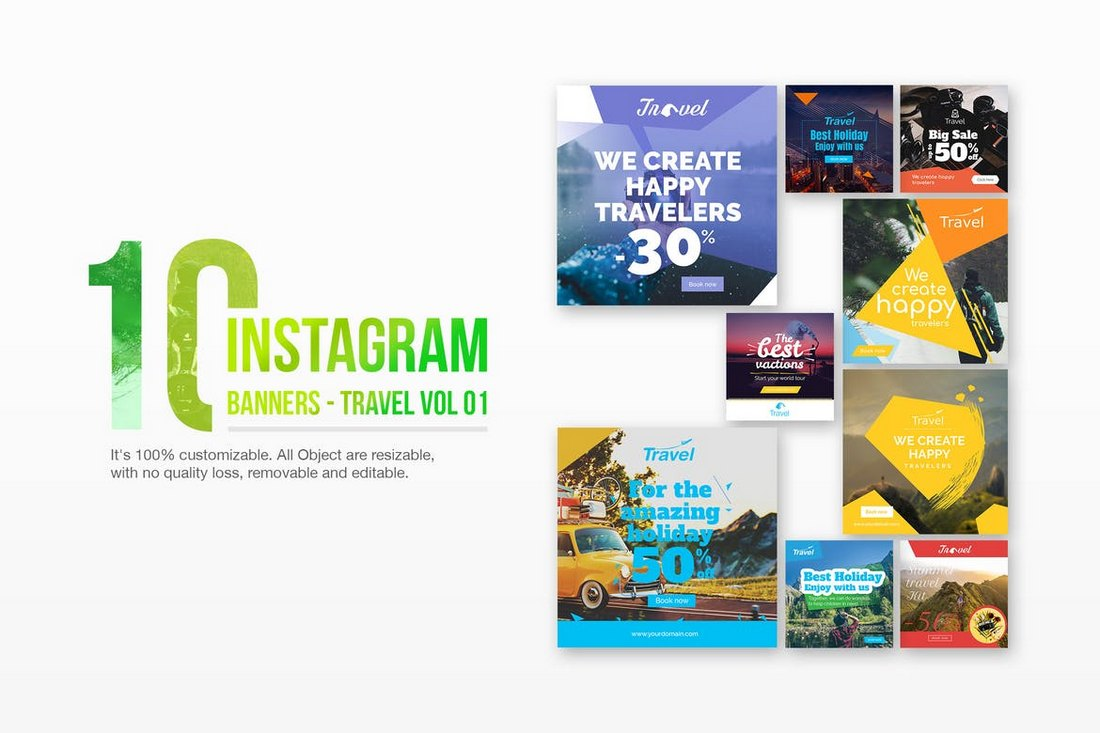 10 Instagram Travel Banner Templates