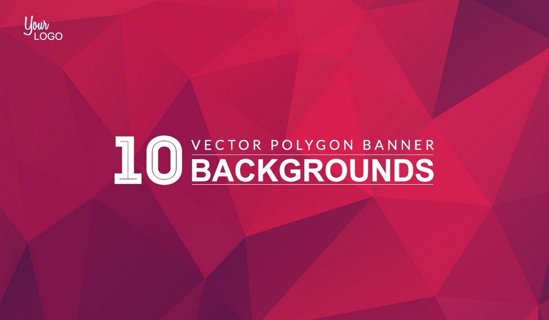 10-Polygon-Background-Banners-Freebies 20+ Beautiful Geometric & Polygon Background Textures design tips
