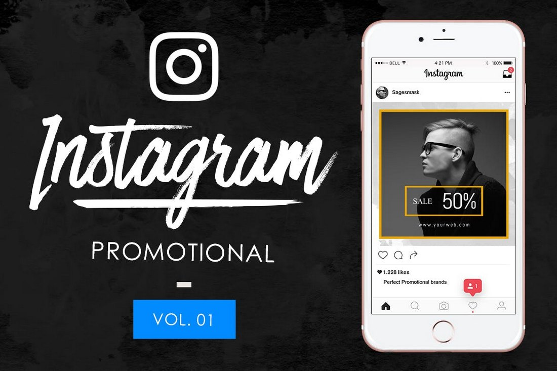 10 Promotional Instagram Post Templates