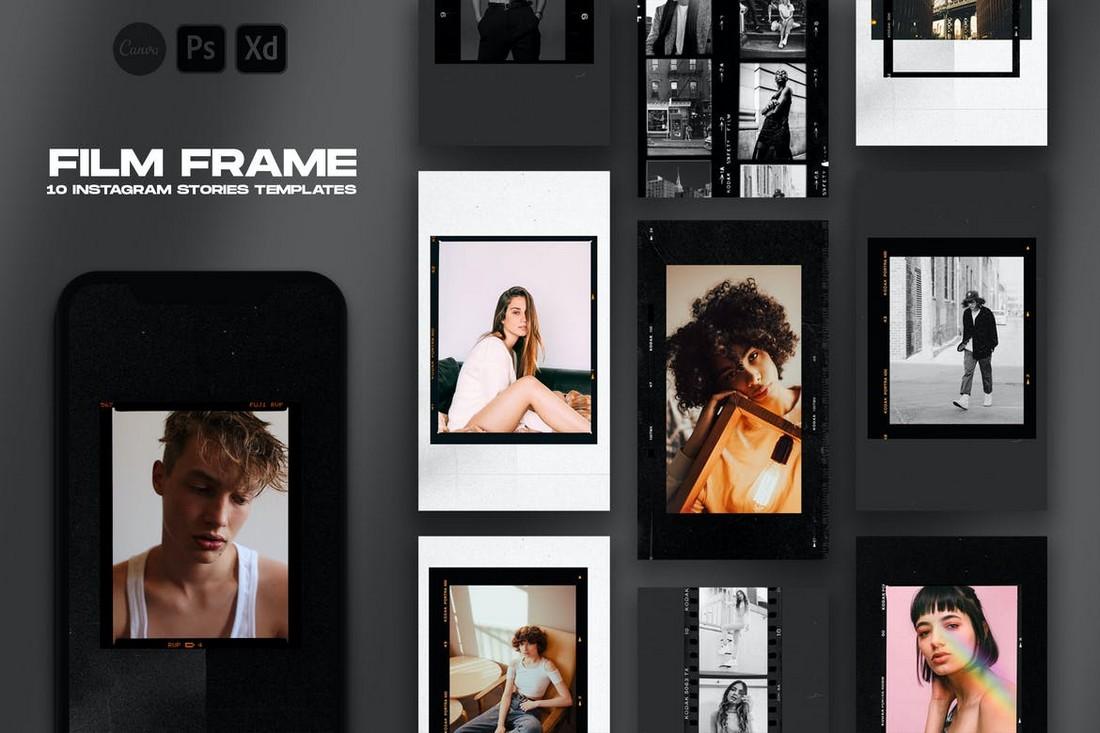 10 Retro Film Frame Instagram Story Templates