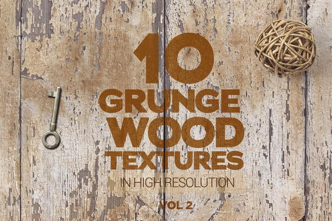 10 Vintage Grunge Wood Textures