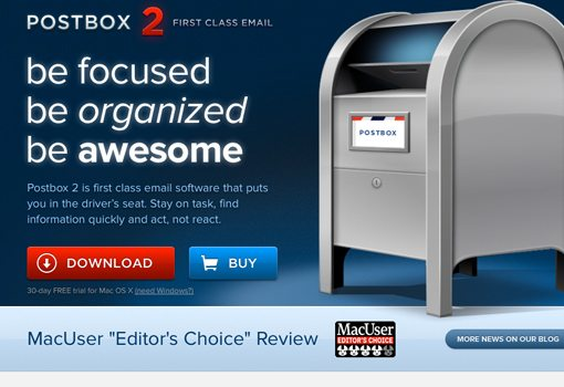 Postbox 1st class e-mail software for mac
