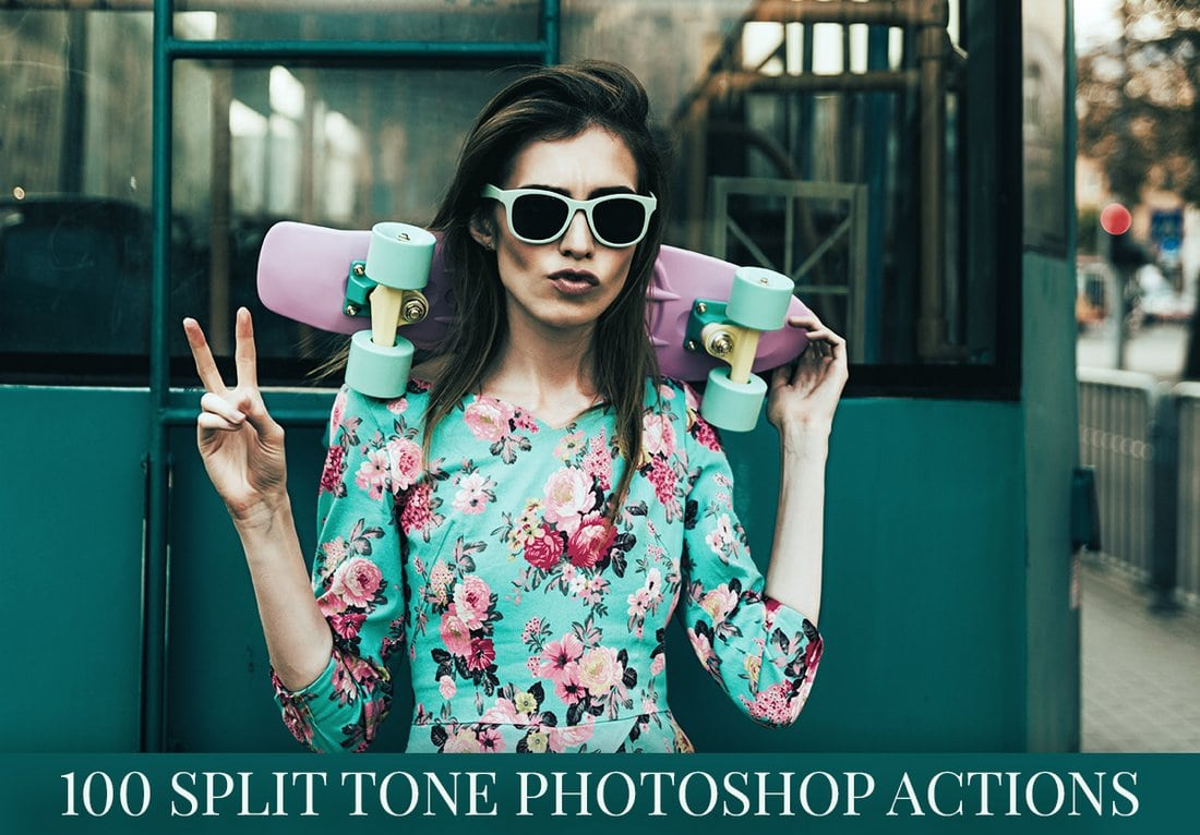100 Free Split Tone Photoshop Actions