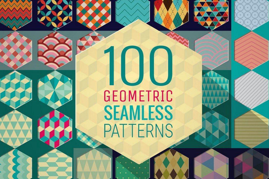 100-Geometric-Patterns 20+ Beautiful Geometric & Polygon Background Textures design tips