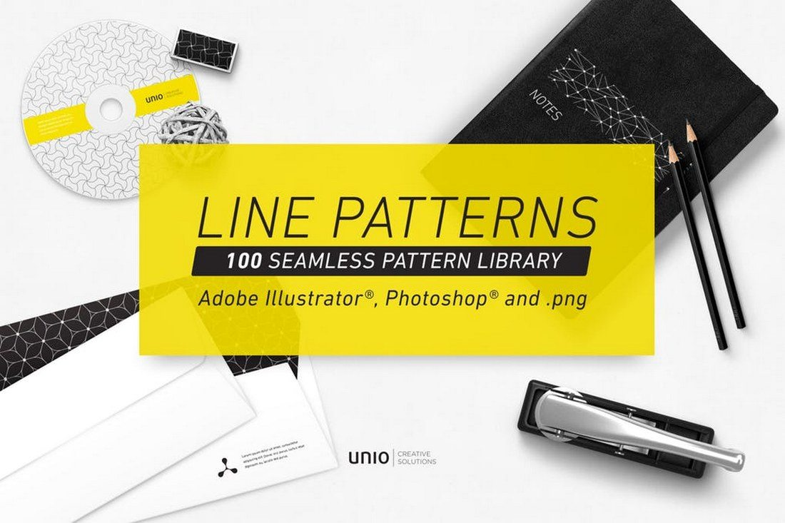 100-Line-Patterns 30+ Best Line Patterns & Textures design tips