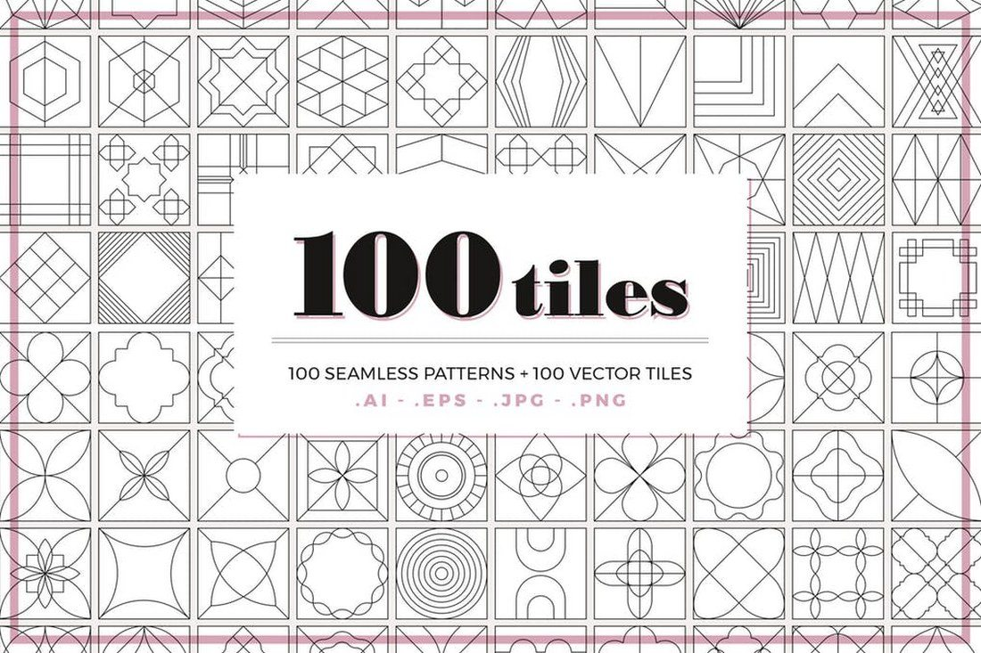 100-Tiles-Patterns 30+ Best Line Patterns & Textures design tips
