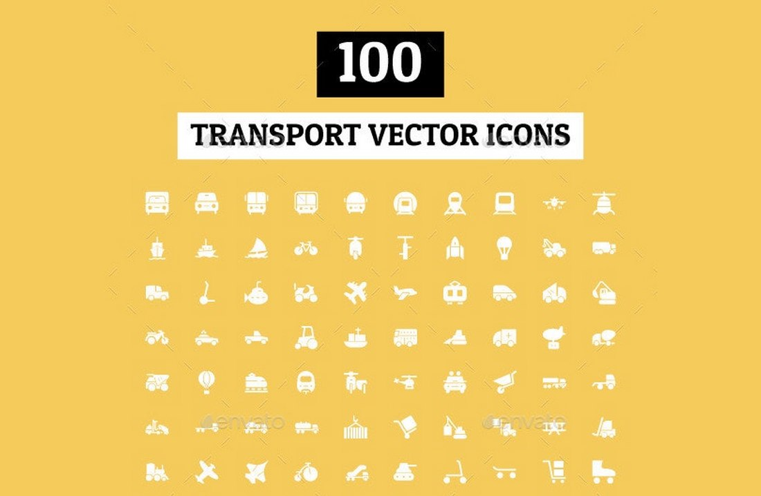 100 Transport Vector Icons