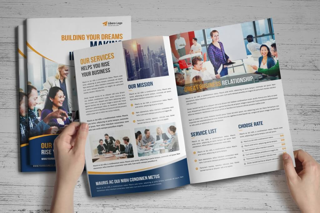 single fold brochure template free download
