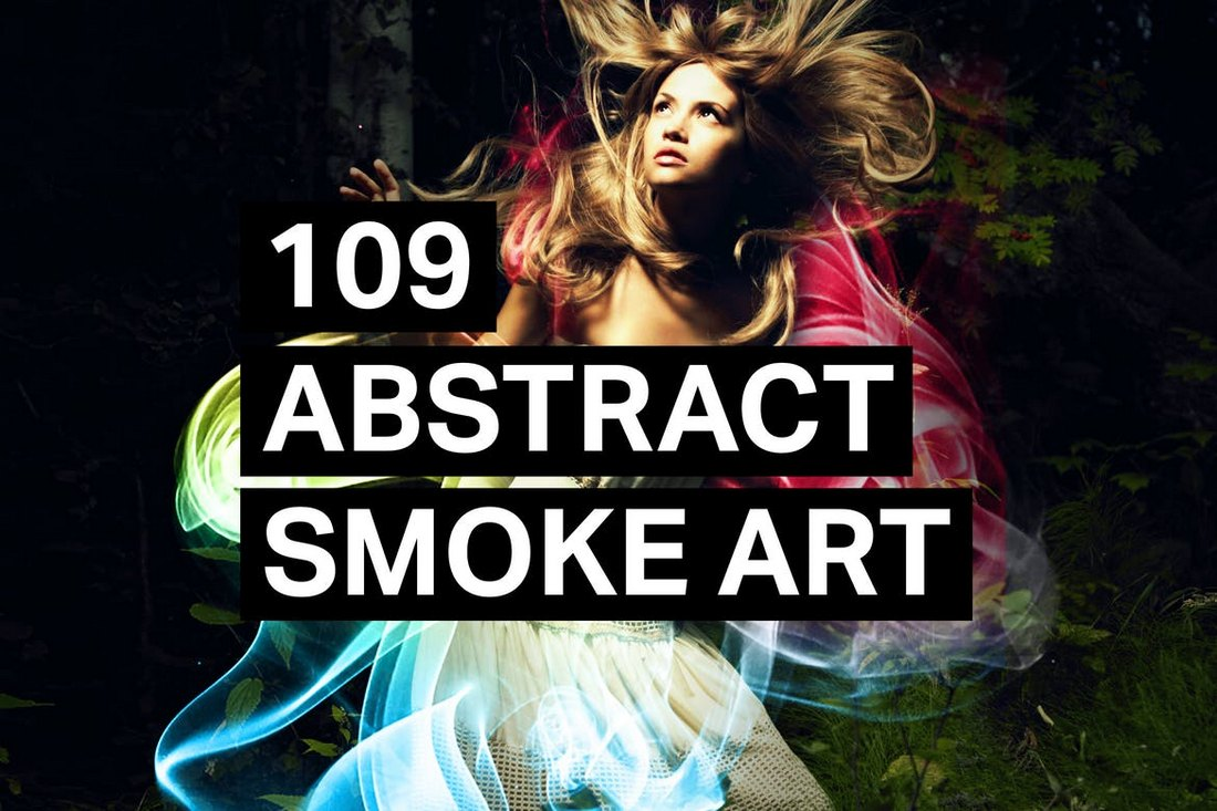 109 Abstract Smoke Art