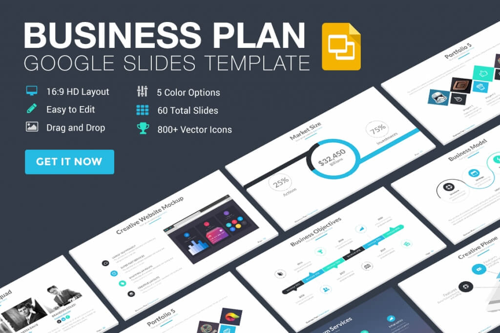 25 modern premium google slides templates design shack business plan google slides template pronofoot35fo Images