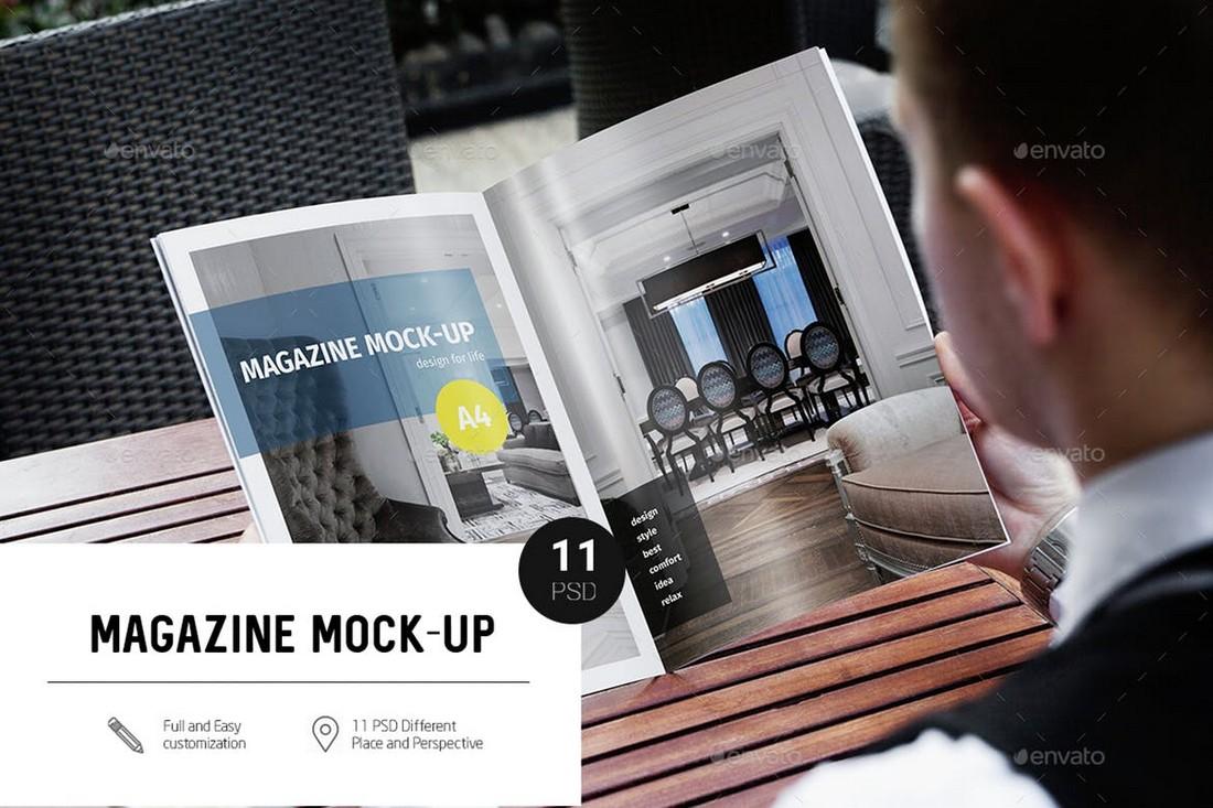 11 A4 Magazine Mockups