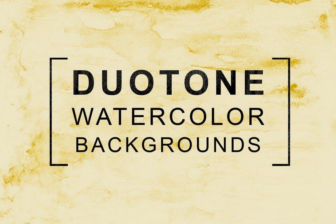 11-Duotone-Watercolor-Backgrounds 30+ Best Watercolor Background Textures design tips