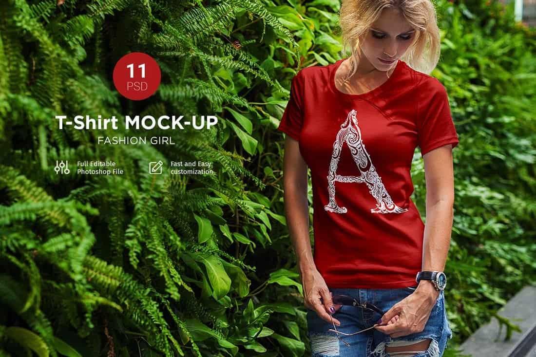 11 T-Shirt Mockup Templates