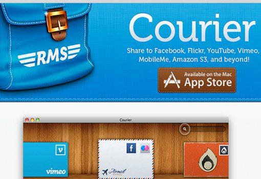 Courier multiple media upload application