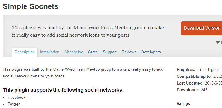 simple socnets open source wordpress plugin