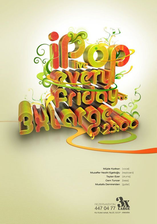 11.-i-pop-poster-v1-by-taylanezer Typographic Posters: 100 Stunning Examples design tips