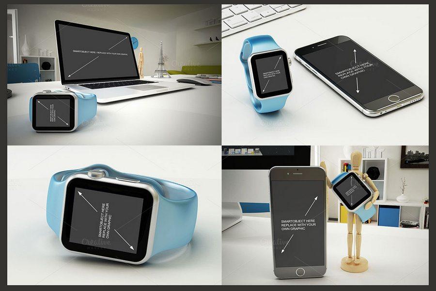 1106 50+ Apple Watch Mockups & Graphics design tips
