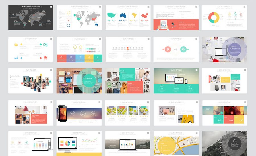 60 beautiful premium powerpoint presentation templates design shack monica multipurpose business powerpoint template is impressive tool for presenting your company and your works the current presentation enables its owners cheaphphosting Choice Image